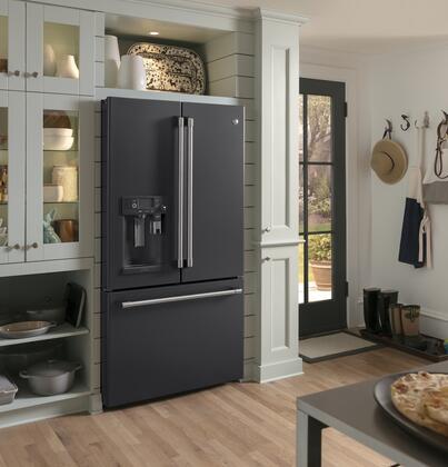 Cafe Cfe28uelds Black Slate Series 36 Inch French Door