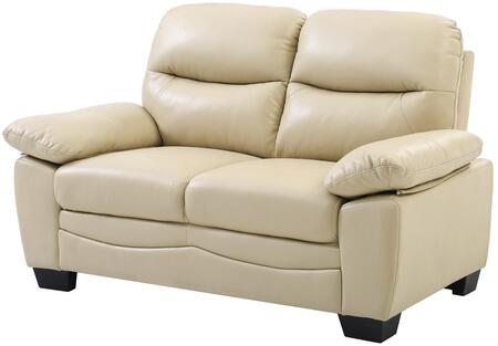 Glory Furniture G680L Faux Leather Stationary Loveseat