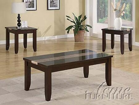 """Acme Furniture 16658 48"""" Contemporary Living Room Table Set"""