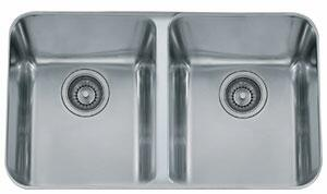 Franke LAX120 Largo Series Undermount Double Bowl Sink in Stainless Steel