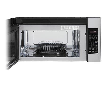 Lg Lmvh1711st 1 7 Cu Ft Over The Range Microwave Oven