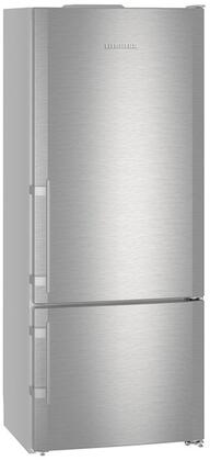 """Liebherr CS1410x 30"""" Bottom Freezer Refrigerator with 14.6 cu. ft. Total Capacity, Dual Temperature Zones, Child Proof, and No Frost, in Stainless Steel"""