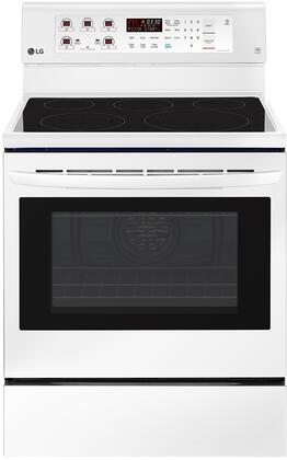 Lg Lre3193sw 30 Inch Electric Freestanding Range In