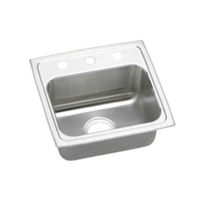 """Elkay LRAD1716550 17"""" Top Mount Self-Rim Single Bowl ADA Compliant 18-Gauge Stainless Steel Sink"""