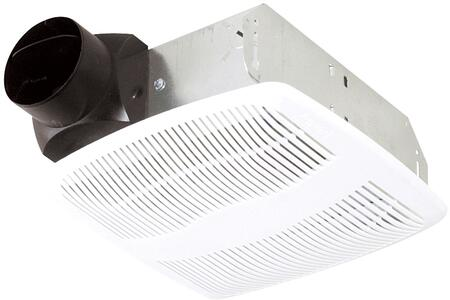 Air King ASx Exhaust Fan with x CFM, 23 Gauge Galvanized Metal Housing, and Polymeric Grill, in White