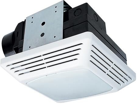 Air King BFQFx Exhaust Fan with x CFM, Lighting, PC/ABS Polymeric Housing, and Polymeric Grill, in White