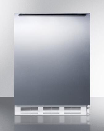 """AccuCold ALB651SSXX 24"""" ADA Compliant Dual Evaporator Undercounter Refrigerator with 5.1 cu. ft. Capacity, Cycle Defrost, Adjustable Thermostat, and 2 Wire Shelves: Stainless Steel"""