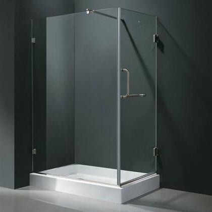 "Vigo VG6012XXCL36WL 36"" x 48"" Frameless 3/8"" Shower Enclosure with Left Base:"