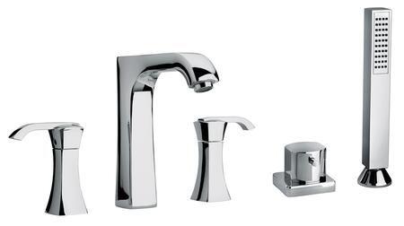 Jewel Faucets 11109XX Two Lever Handle Roman Tub Faucet and Hand Shower With Arched Spout