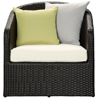 Modway EEI968EXPWHI  Metal Frame  Patio Arm Chair
