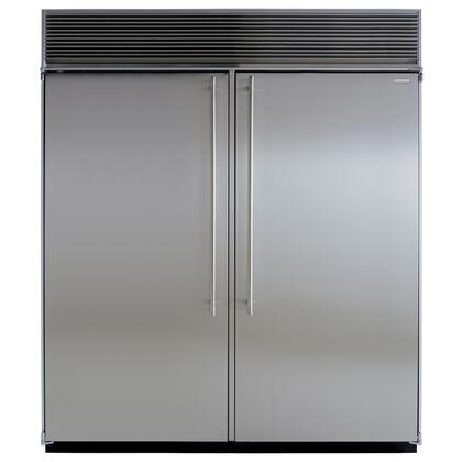 "Marvel MPRO72CSSSS 72"" Built In Side by Side Refrigerator"