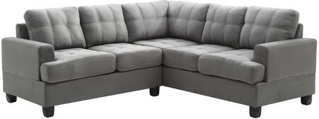 Glory Furniture G513BSC G510 Series Stationary Suede Sofa