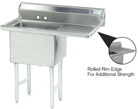 1 Compartment Sink   Right Side Drainboard