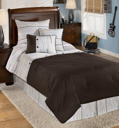 Signature Design by Ashley Q30500 Stickly Size Bedding Set with One Comforter, One Bed Skirt, One Pillow Sham and Two Decorative Pillows in Multi