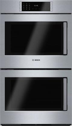 "Bosch Benchmark HBLP651XUC 30"" Double Wall Oven with 4.6 cu. ft. Capacity Ovens, X SideOpening Door, 14 Cooking Modes, SteelTouch Buttons, Self-Clean, AutoProbe and Star-K Certified, in Stainless Steel"