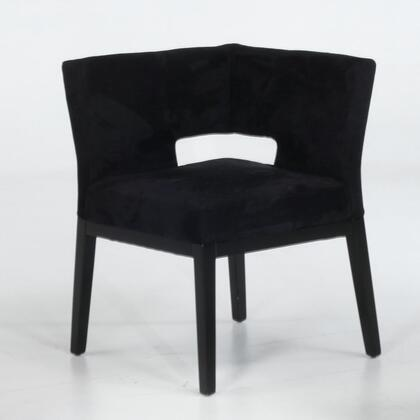 Armen Living LC312CRMFBL Fabric Armchair with Wood Frame in Black |Appliances Connection