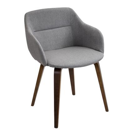 "LumiSource Campania CH-CMP WL 21"" Chair with Woven Fabric Upholster, Wood Legs and Stitched Detailing in"