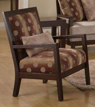 Acme Furniture 05207 Shane Series Accent Chair Fabric Wood Frame Accent Chair