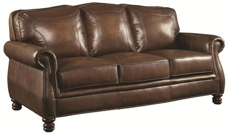 Coaster 503981 Montbrook Series Stationary Leather Sofa