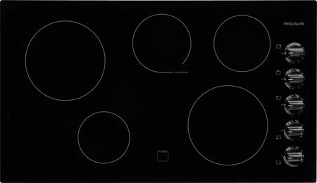 "Frigidaire FFEC3624P 36"" Smoothtop Electric Cooktop with 5 Cooking Zones, Keep Warm Zone, Hot Surface Indicator, ""On"" Indicator, Ceramic Glass and Ready-Select Controls in"