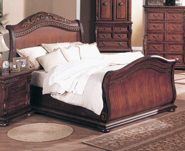Yuan Tai 8530Q Florence Series  Queen Size Sleigh Bed