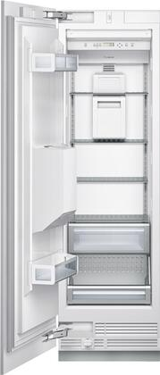 "Thermador T24ID800 24"" Energy Star Rated Freedom Collection Built-In Flush Freezer Column with 11.3 Cu. Ft. Capacity, X Hinged Door, External Ice and Water Dispenser, Electronic Controls, and Freedom Hinge: Panel Ready"