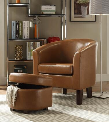 4D Concepts 171500 laguna club chair with storage ottoman in havana 1