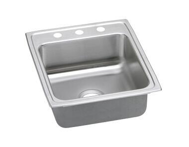 """Elkay LRAD202255 20"""" Top Mount Self-Rim Single Bowl ADA Compliant 18-Gauge Stainless Steel Sink"""