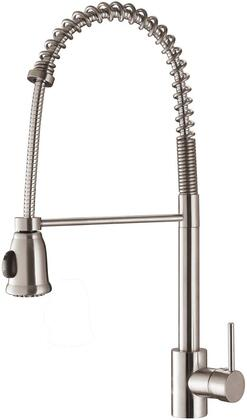Ruvati RVF1215X Commercial Style Pullout Spray Kitchen Faucet - Stainless Steel