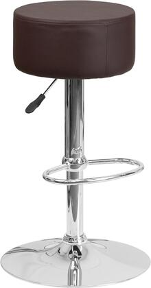 """Flash Furniture 22.25"""" - 30.5"""" Bar Stool with Adjustable Height, Round Swivel Seat, Chrome Base, Footrest, Backless Design and Vinyl Upholstery"""