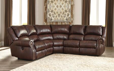 Signature Design by Ashley U72100 Collinsville Sectional Sofa in Chestnut