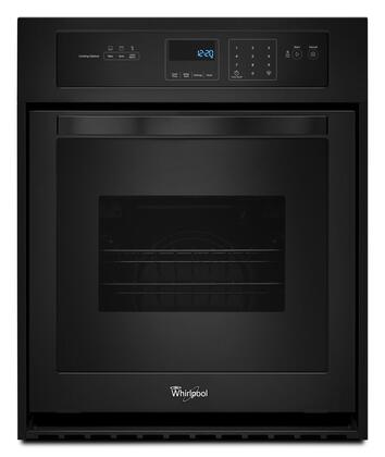 """Whirlpool WOS11EM4E 24"""" Electric Single Wall Oven with 3.1 cu. ft. Capacity, AccuBake System, Dual Interior Lighting, Touch Control Digital Display, and Keep-Warm Setting in"""