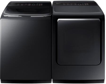 Samsung 754592 Black Stainless Steel Washer and Dryer Combos