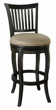 American Heritage 130902BLKMSH Maxwell Series Residential Leather Upholstered Bar Stool