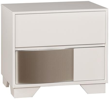 "Coaster Havering Collection 25"" Nightstand with 2 Drawers, Italian Design, Finger Tip Drawer Pulls, Poplar and Selected Woods Construction in"