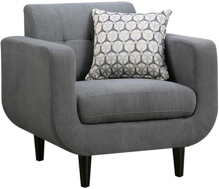 Coaster 505203 Stansall Series Fabric Armchair with Wood Frame in Grey
