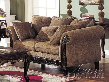 Acme Furniture 05601 Bordeaux Series Chenille Loveseat with Wood Frame Loveseat