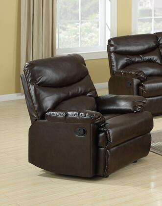 Myco Furniture GE309CBR Geneva Series Transitional Bonded Leather Wood Frame  Recliners