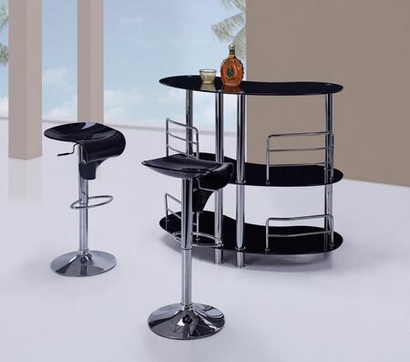 Global Furniture USA MBT02BLM215BSBL3PCSET Bar Tables