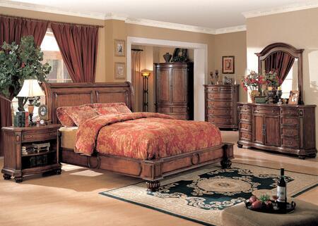 Yuan Tai WR9100QTVSET Wrigley Series 5 Piece Bedroom Set