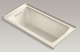"Kohler K-1947-GLF- Archer 60"" x 30"" Alcove BubbleMassage Air Bath with Integral Flange and Left-Hand Drain"