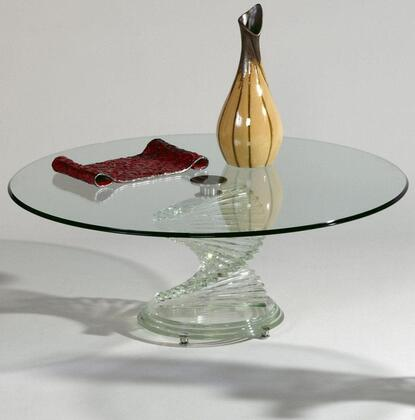 Chintaly 7201CT Clear Glass Contemporary Table