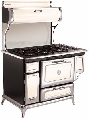 """Heartland 720000GIVY 48"""" Classic Series Gas Freestanding Range with Sealed Burner Cooktop, 3.6 cu. ft. Primary Oven Capacity, Broiler in Ivory"""