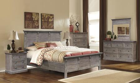 Sunset Trading Solstice Grey 5 Piece Queen Size Bedroom Set