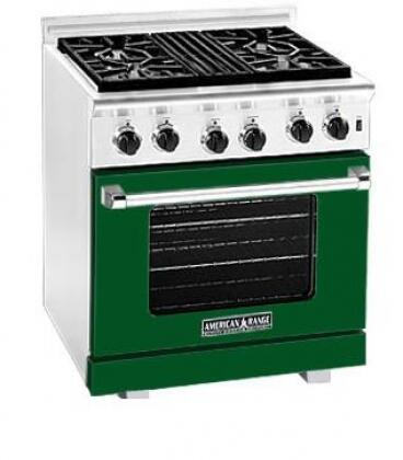 American Range ARR304LFG Heritage Classic Series Liquid Propane Freestanding Range with Sealed Burner Cooktop, 4.8 cu. ft. Primary Oven Capacity, in Green