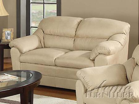 Acme Furniture 15171 Connell Series Microfiber  with Wood Frame Loveseat