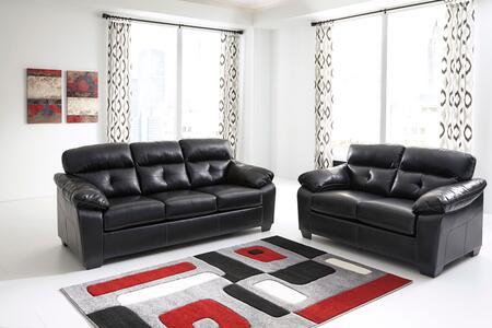 Milo Italia MI2460SLBLK Genista Living Room Sets