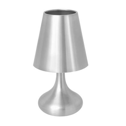 "LumiSource Genie LS-L-GENIE 10"" Touch Lamp with Touch Senor Control, Spun Aluminum Finish and UL Listed in"