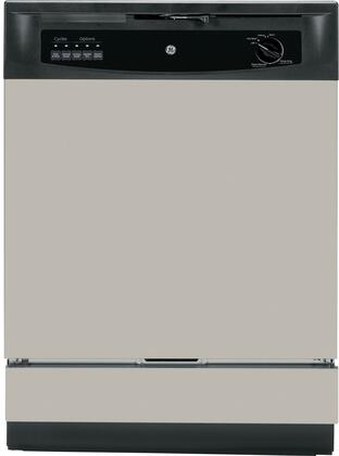 "GE GSD3340DSA 24"" 3300 Series Built In Full Console Dishwasher with 12 Place Settings Place Settingin Silver"