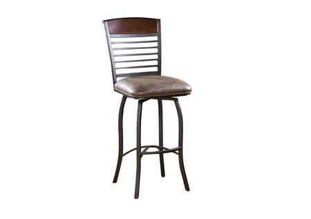 American Heritage 130926COC Stefano Series Residential Bonded Leather Upholstered Bar Stool